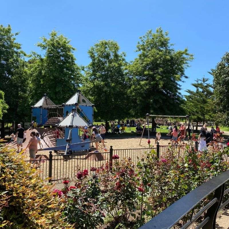 Children playing on playground at Primary@Pioneers Park