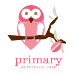 Primary Cafe Site Identity - Pink Owl on branch